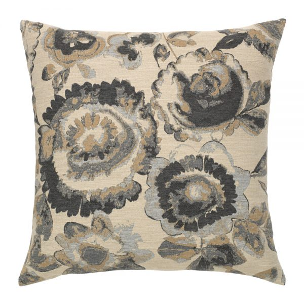 """20"""" Grigio Floral square patio throw pillow from Elaine Smith"""