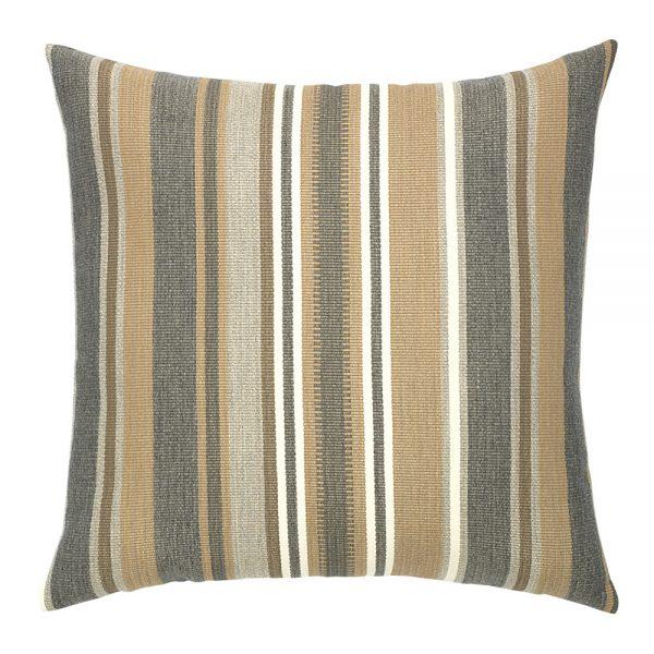 """Elaine Smith 20"""" designer throw pillow - Grigio Stripe"""