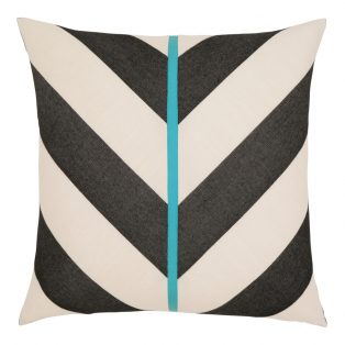 "Elaine Smith 20"" designer throw pillow - Harmony Chevron"