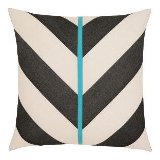 """Elaine Smith 20"""" designer throw pillow - Harmony Chevron"""