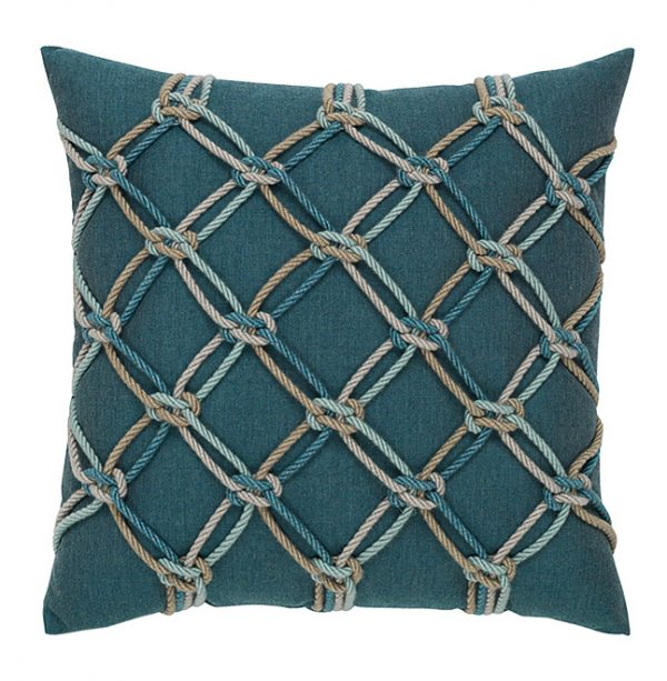 """Lagoon Rope Elaine Smith 20"""" square outdoor throw pillow"""