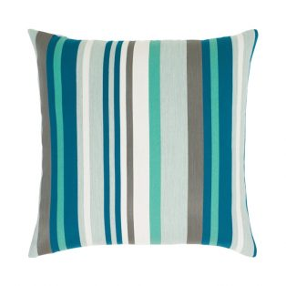 """Elaine Smith 20"""" designer pillow - Lagoon Stripe"""