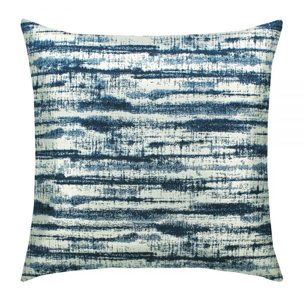 "Elaine Smith 20"" Linear Indigo designer throw pillow"