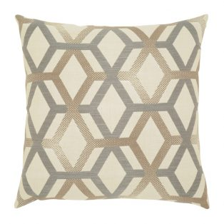 "Elaine Smith 20"" Lustrous Lines designer throw pillow"
