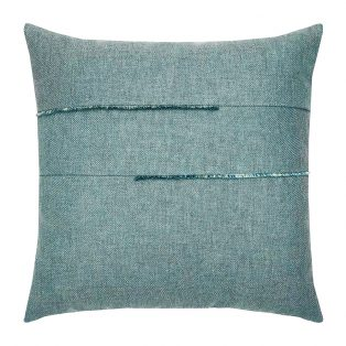 "Elaine Smith 20"" designer pillow - Micro Fringe Seaglass"