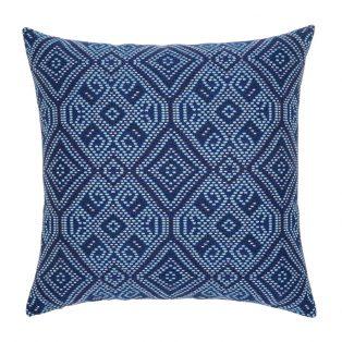 """Midnight Tile Elaine Smith 20"""" outdoor throw pillow"""