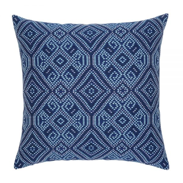 "Midnight Tile Elaine Smith 20"" outdoor throw pillow"