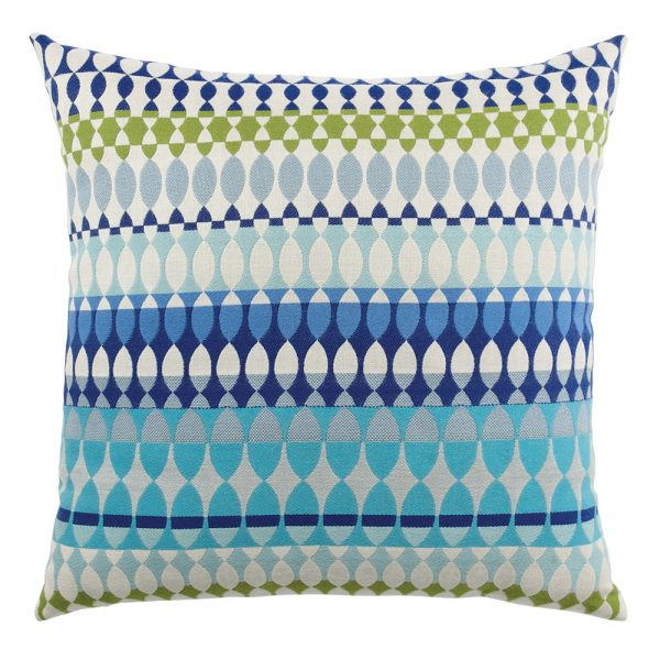 "Elaine Smith 20"" designer throw pillow - Modern Oval Ocean"