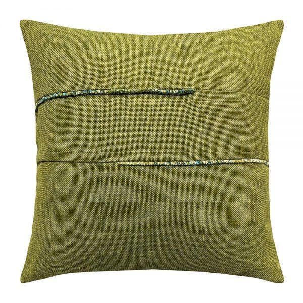 """Moss Garden Elaine Smith 20"""" square outdoor pillow"""