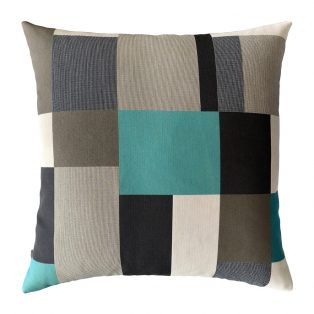 "Elaine Smith 20"" designer pillow - Noir Block"