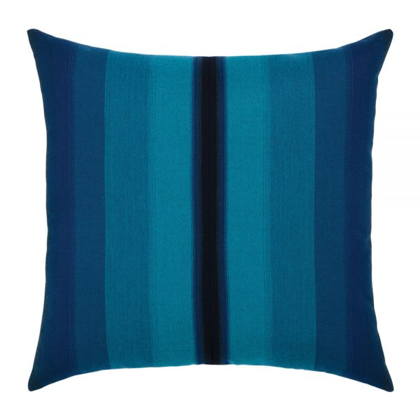"""20"""" square Ombre Azure outdoor throw pillow from Elaine Smith"""