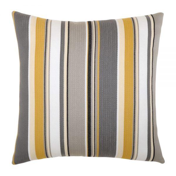 """Elaine Smith Shadow Stripe 20"""" square outdoor throw pillow"""