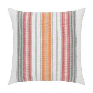 "Elaine Smith Sherbet Stripe 20"" square designer outdoor pillow"