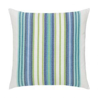 "Elaine Smith 20"" designer throw pillow - Summer Stripe"