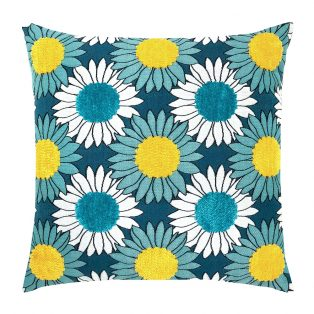 "20"" square Sunflower Bloom outdoor pillow from Elaine Smith"