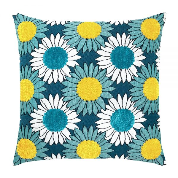 """20"""" square Sunflower Bloom outdoor pillow from Elaine Smith"""