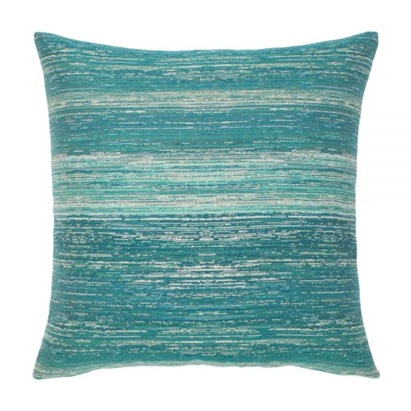 "20"" Texture Lagoon outdoor pillow from Elaine Smith"