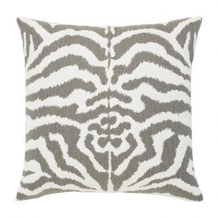 "Elaine Smith 20"" designer outdoor pillow - Zebra Gray"