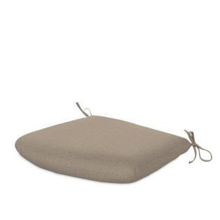 Tapered outdoor dining seat cushion with Sunbrella fabric