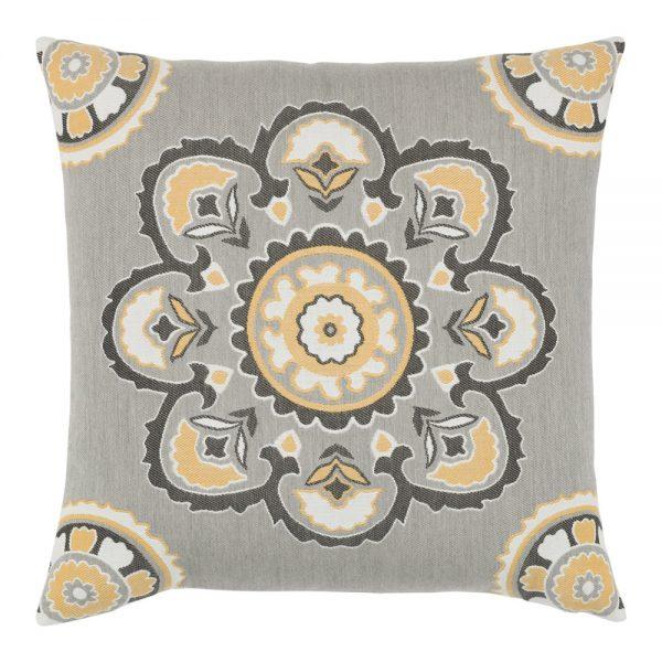 """Bukhara Eclipse Elaine Smith 22"""" square designer pillow"""