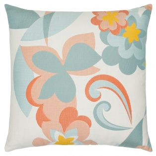 "Elaine Smith 22"" designer pillow - Floral Pop"