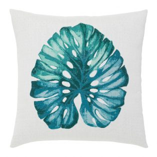 "Elaine Smith 22"" square designer throw pillow - Leaf Lagoon"