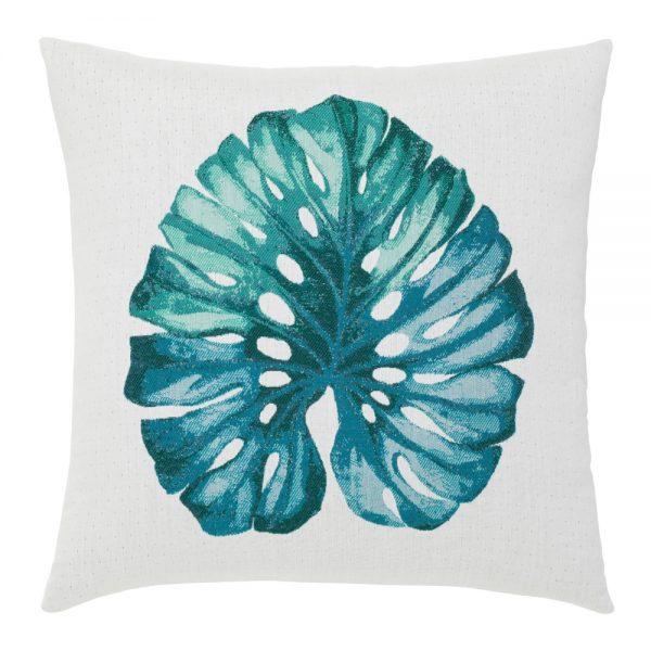"""Elaine Smith 22"""" square designer throw pillow - Leaf Lagoon"""
