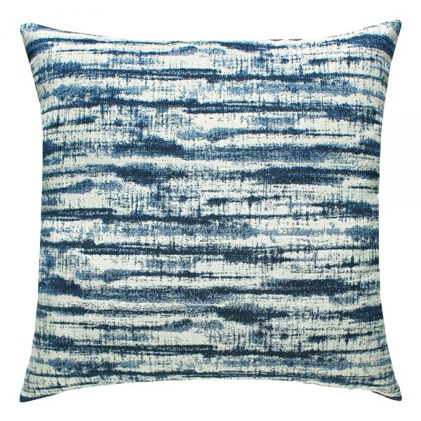 "22"" square Linear Indigo outdoor throw pillow from Elaine Smith"