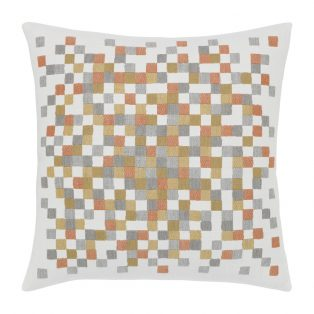 """Elaine Smith 22"""" designer pillow - Metallic Check"""