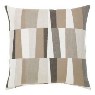 "Elaine Smith Strata Grigio 22"" square outdoor pillow"