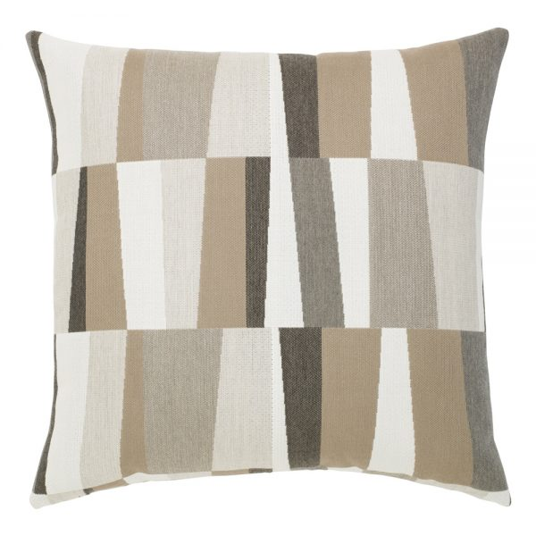 "Elaine Smith Strata Grigio 22"" square outdoor pillow"