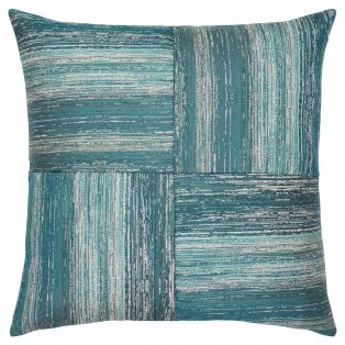 "22"" square Textured Lagoon Quadrant outdoor throw pillow from Elaine Smith"