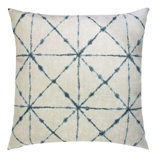 "22"" Trilogy Indigo square patio throw pillow from Elaine Smith"