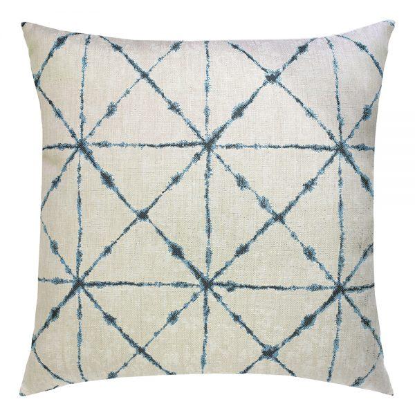 """22"""" Trilogy Indigo square patio throw pillow from Elaine Smith"""