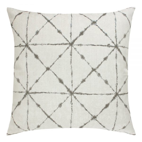"""22"""" square Trilogy Taupe outdoor pillow from Elaine Smith"""
