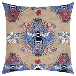 "Elaine Smith 22"" designer pillow - Tropical Bee Capri"