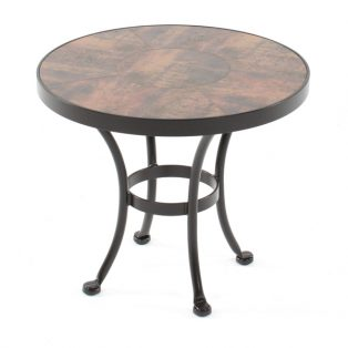 """24"""" round side table with porcelain top"""