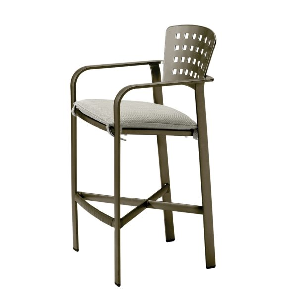 Impressions barstool with seat cushion