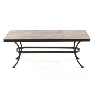 "28"" x 50"" coffee table with porcelain top"