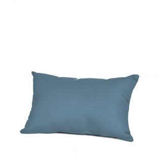 Outdoor lumbar throw pillow with Sunbrella fabric