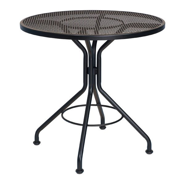 "30"" mesh top dining table - shown with Textured Black finish"
