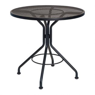 "30"" mesh top dining table with Textured Black finish"