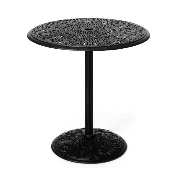 "30"" round Tuscany pedestal bar table"