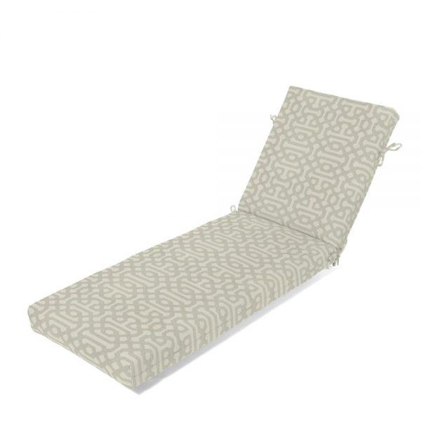 Chaise Cushion - Fretwork Pewter