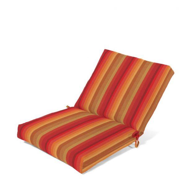 Outdoor club chair cushion with Sunbrella fabric