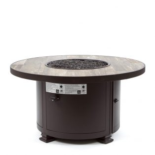 "36"" Round Santorini occasional height fire pit - Venice Beach top"