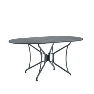 "42""x54"" oval premium mesh top table"