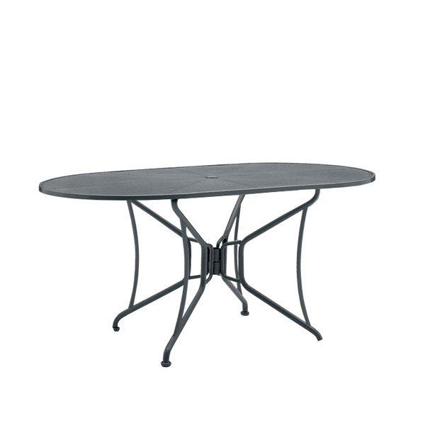 "42""x54"" oval premium mesh top table"
