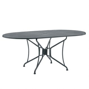 "42""x72"" oval premium mesh top table"