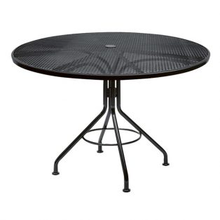 "48"" mesh top dining table with Textured Black finish"